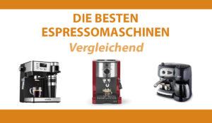 vergleichend espressomaschinen